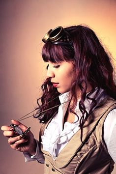 Steampunk #steam #girl #vintage #gothic