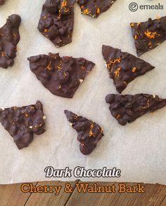 Wait! We thinking Chocolate = Comfort Food...right?! If so, you will LOVE this Dark Chocolate-Cherry Bark