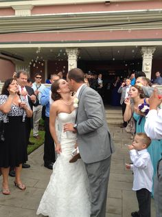 What better way to end your wedding than to be surrounded by bubbles with the one you love!