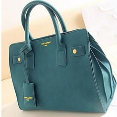 New POLO Fashion Simple Nubuck Leather One Shoulder OL Tote(Screen Color) 8b7d57b5c3