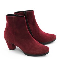 Stiefeletten  Boots Shoes Damen 37,5 Pocco Pazza Rot Leder Neu Schön!
