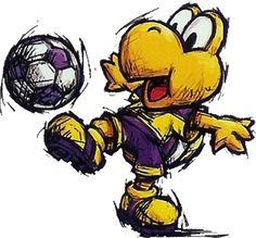 PIPOCA COM BACON - Games: Mario Strikers Charged – O futebol apelão da Nintendo - Koopa_Troopa_Art_(Super_Mario_Strikers) - #PipocaComBacon