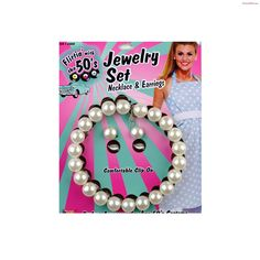 50's Pearl Necklace and Earrings Set#Pearl, #Necklace, #Set Faux Pearl Necklace, Silver Pendant Necklace, Necklace Set, Pearl Earrings, I Love Lucy Costume, Hello Kitty Costume, Silver Ring Designs, I Love Makeup, Sterling Silver Flowers