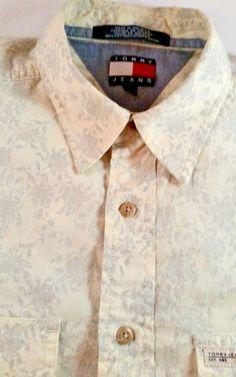 Tommy Hilfiger Paisley Men's Shirt Size S Short Sleeve Button Front #TommyHilfiger #ButtonFront