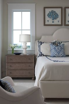 coastal bedroom by Cindy Meador Interiors