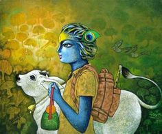 """New artwork added on IndianArtCollectors.com! """"Bansidhar -19"""" by Ramchandra B Pokale Acrylic On Canvas, Size(inches): 24X20 See more artworks by Ramchandra B Pokale at: http://www.indianartcollectors.com/artist/RamchandraBPokale"""