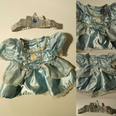 Frozen Elsa Dress, Disney Frozen Elsa, Cinderella Dress Disney, Palace Pets, Friend Outfits, Build A Bear, Glass Slipper, Silver Shoes, Boho Shorts