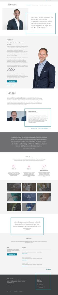 Neuer Webauftritt für den Unternehmer und Investor Stefan Schwab / Nouveau site internet pour l'entrepreneur et investisseur Stefan Schwab #cubegrafik #webdesign #parallax #wordpress #webdev #biel #bienne #switzerland Wordpress, Internet, Passion, Investing, Entrepreneur, Things To Do