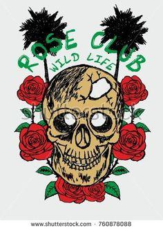 skull and rose vector art Flower Vector Art, Organic Gardening Magazine, Tattoo Graphic, Fashion Graphic Design, Shirt Print Design, Symbolic Tattoos, Free Vector Graphics, Chinese Art, Graphic Prints