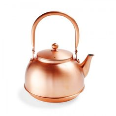 Crafted by skilled Japanese artisans, this durable, lightweight kettle is made from shiny copper which conducts heat efficiently. Heralded for more than five millennia for its healing properties, this blush-hued trace element is the metal of the moment. Protected with a beeswax coating, its gleaming exterior surface will develop a unique patina as it wears away.