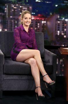 Joanne Froggatt shows off long legs at Jimmy Kimmel Live! Show in Los Angeles Joanne Froggatt latest photos Great Legs, Beautiful Legs, Gorgeous Women, Hottest Female Celebrities, Celebs, Sexy Older Women, Sexy Women, Fit Women, Sexy Sandals