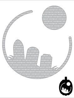 Print the Graveyard pumpkin-carving template.