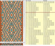 42 tarjetas, 3 colores, repite cada 34 movimientos // sed_1056 diseñado en GTT༺❁
