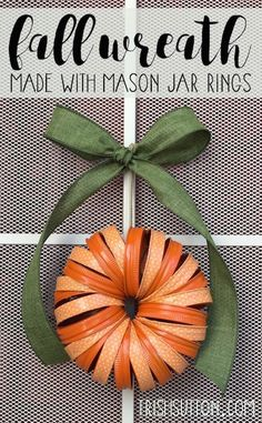 Fall Mason Jar Ring