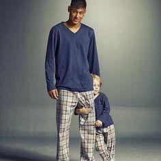 Father & son matching pyjamas ❤️❤️❤️