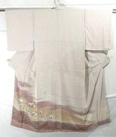 Kimono, irotomesode, yuzen dyed by Koyo Nogawa