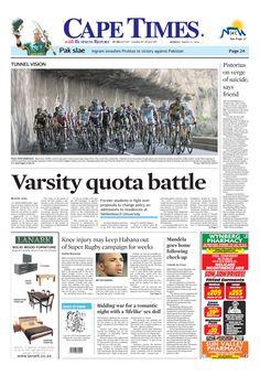 News making headlines:   Varsity quota battle
