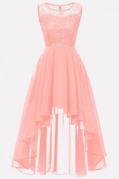 Simple Cheap Chic, Shop Light-pink Lace Mesh Splicing Sleeveless Elegant A Line Dress online. Pretty Prom Dresses, Homecoming Dresses, Sexy Dresses, Short Dresses, Girls Dresses, Light Pink Dresses, Pretty Dresses For Teens, Light Dress, Dress Prom