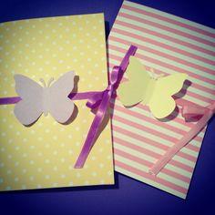"""Greeting cards """"Butterflies"""" Butterflies, Greeting Cards, Handmade, Hand Made, Butterfly, Handarbeit"""