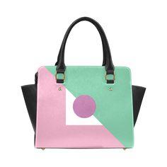 CV0067 Retro Modern Bold Geometric Purple Green Classic Shoulder Handbag (Model 1653) MORE with this design: http://www.artsadd.com/search/cv0067?rf=10791