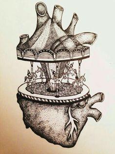 Drawing Heart Anatomy Tattoos Ideas For 2019 Art And Illustration, Ink Illustrations, Heart Anatomy Tattoo, Heart Anatomy Drawing, Human Heart Tattoo, Human Anatomy Art, Wow Art, Heart Art, Greys Anatomy
