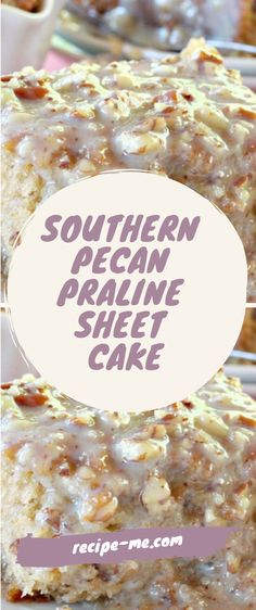 It's a sensational and remarkably easy Southern dessert of rich, moist and fluffy coconut butter pecan Praline Cake, Butter Pecan Cake, Coconut Pecan Frosting, Recipes Using Cake Mix, Sheet Cake Recipes, Sheet Cakes, Bread Recipes, Yummy Recipes, Smoke Chicken Wings Recipe