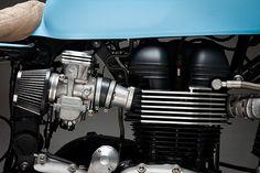 "Triumph Bonneville Cafe Racer ""Moose"" by Mean Machines #motorcycles #caferacer #motos | caferacerpasion.com"