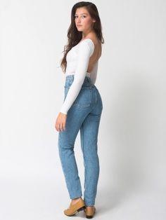 Medium Wash High-Waist Jean