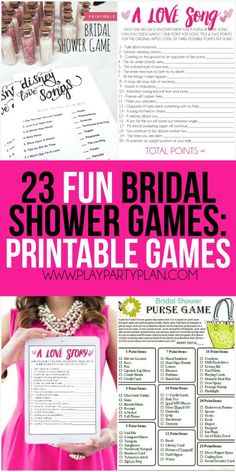 23 more funny bridal shower games that don't suck including everything from games for couples, interactive games for large groups, and even a bunch of free printable bridal shower games! So many of these would be hilarious for a co-ed shower or for bride