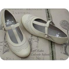 zapatos niña - merceditas beige Landos - calzado infantil beige
