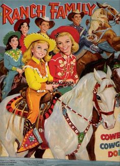 The Ranch Family Paper Dolls : Paper Dolls of Classic Stars, Vintage Fashion and Nostalgic Characters, for Kids and Collectors Barbie Paper Dolls, Paper Dolls Book, Paper Toys, Victorian Paper Dolls, Vintage Paper Dolls, Vintage Western Wear, Literary Characters, Cowboy And Cowgirl, Cowgirl Chic