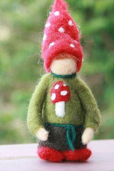 Needle Felted Christmas Gnome Boy Ornaments. $30.00, via Etsy.