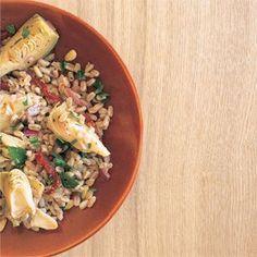 Farro #Salad with Artichoke Hearts
