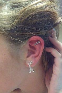 Cartilage piercings! #piercings