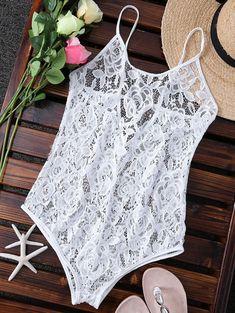 $9.76 Alluring Crochet Flower Unlined One-Piece Women's Swimsuit