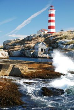 Sambro Island Lighthouse, Nova Scotia ~how cool is it that my father-in-law used to be a lightkeeper?