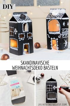 Skandinavische DIY Weihnachtsdeko basteln Scandinavian decoration is very popular, also when it comes to crafting Christmas decorations. So you bring the right flair for the holidays home. Red And Gold Christmas Tree, Rustic Christmas, Christmas Diy, Christmas Wreaths, Christmas Decorations Diy For Kids, Xmas Crafts, Minimal Christmas, Simple Christmas, Winter Wonderland Christmas