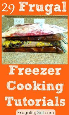 29 Frugal Freezer Cooking Tutorials