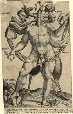 Allegory of the Five Obstinate Monsters 1575 - 1618