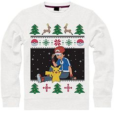 Import Europe - Jersey Navidad Pokémon, Color Blanco, Talla XL #camiseta #realidadaumentada #ideas #regalo