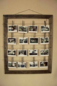 DIY picture frame. Could also put menu ideas, calendar reminders, or prayer requests here!