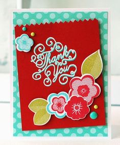 Ruby Thank You Card by Betsy Veldman for Papertrey Ink (July 2013)