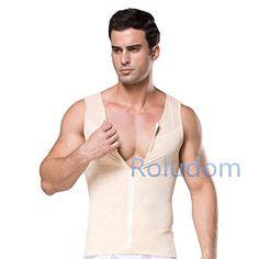 3aee0cad59f9f Roludom Mens Slimming Body Shaper Vest Shirt Abs Abdomen Slim  gt  gt  gt