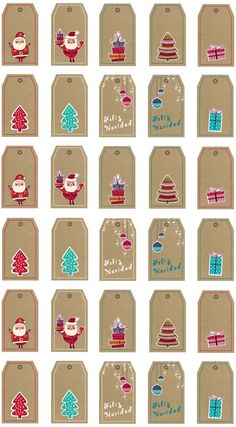 Office Christmas Decorations, Christmas Projects, Christmas Diy, Christmas Cards, Free Printable Christmas Gift Tags, Tropical Christmas, Theme Noel, Nouvel An, Card Making Inspiration