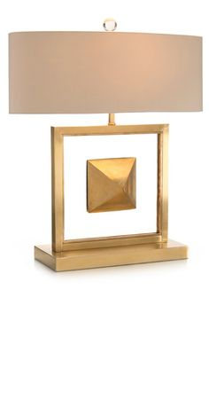 Limited Production Design & Stock: Framed Brass Pyramid Console Lamp * Brass Finish * Beige Silk Shade * 60 Watts A Bulb * H: 26 inches * Partner Floor & Buffet Lamps Available Luxury Table Lamps, Brass Table Lamps, Brass Lamp, Hotel Room Design, Luxury Lighting, Modern Lighting, Interior Lighting, Lighting Ideas, Buffet Lamps
