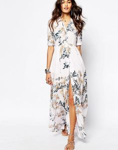 Free People | Free People - After The Storm - Vestito lungo a fiori su ASOS