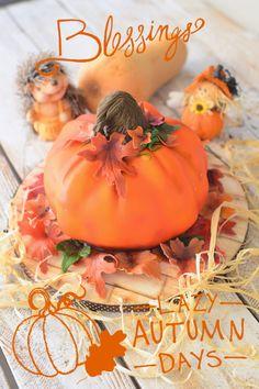 Kessy's Pink Sugar: Herbstliche Kürbisse - tolle Deko in 3 D