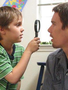 Ellar Coltrane and Ethan Hawke in Boyhood, directed by Richard Linklater