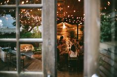 if we strung the lights a little lower, it would create an intimate dining experience like this one.