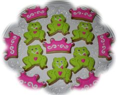 princess and the frog cookies- made by my mom